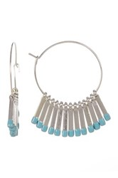 14Th And Union Enamel Tipped Fringe Hoop Earrings Blue