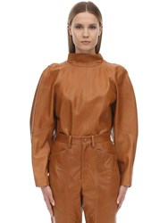 Isabel Marant Caby Leather Top Camel