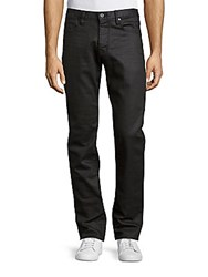 John Varvatos Bowery Fitted Cotton Blend Pants Graphite