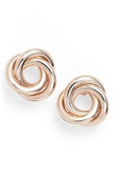 Nordstrom Women's Twisted Knot Stud Earrings Rose Gold