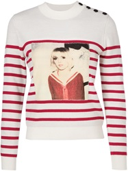 Each X Other Digital Print Patch Sweater White