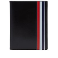 Thom Browne Printed Stripe Passport Holder Black