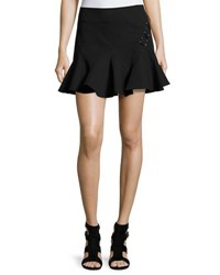 Derek Lam Stretch Jersey Fit And Flare Mini Skirt White
