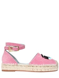 Chiara Ferragni 30Mm Flirting Eye Denim Espadrilles