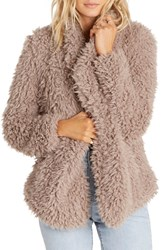 Billabong Women's Do It Fur Love Faux Fur Jacket