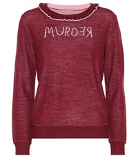 Undercover Murder Reversible Wool Sweater Red