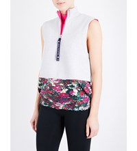 Adidas By Stella Mccartney Run Floral Print Gilet Cool Grey Mel. Shock Pik