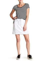 Cable And Gauge Drawstring Skirt White