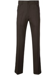 Second Layer Straight Tailored Trousers Brown