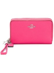 Coach Zipped Wristlet Pink And Purple
