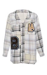 Band Of Outsiders Somerset Baseball Shirt Light Grey