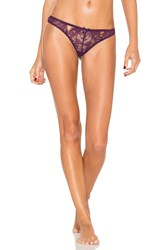 Agent Provocateur Idalia Thong Purple