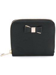 Furla Front Bow Wallet Women Calf Leather Viscose One Size Black