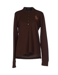 Ralph Lauren Polo Shirts Dark Brown