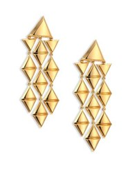 Marina B Triangoli 18K Yellow Gold Chandelier Earrings