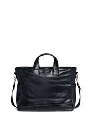 Meilleur Ami Paris 'Petit Ami' Suede And Leather Tote Bag Black