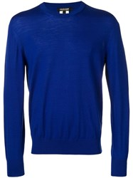 Roberto Cavalli Relaxed Fit Jumper Blue