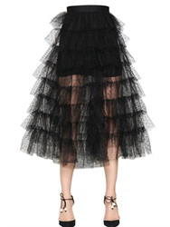 Philosophy Di Lorenzo Serafini Tiered Point D'esprit Tulle Skirt