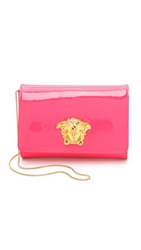 Versace Patent Leather Handbag Pink Gold