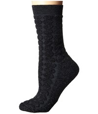 Smartwool Cozy Dot Crew Charcoal Heather Women's Crew Cut Socks Shoes Gray
