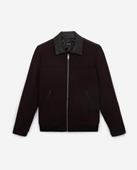 The Kooples Burgundy Wool Jacket With Classic Collar