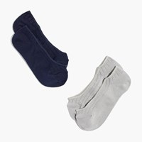 Madewell Two Pack Ribbed Heather Low Profile Socks Grey Navy