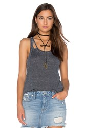 Chaser Deconstructed Shirttail Tank Black