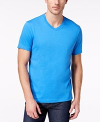Club Room Men's Solid V Neck T Shirt Created For Macy's Palace Blue