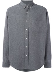Ami Alexandre Mattiussi Button Down Shirt Grey