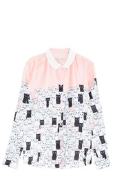 Paul And Joe Sister Cat Print Shirt Pink