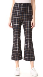 A.W.A.K.E. Checkered Pants Plaid Navy Check