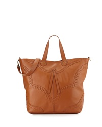 Isabella Fiore Western Front Whipstitched Tote Bag Henna