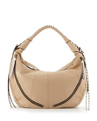 Oryany Jasmine Zip Hobo Bag Sand Brown