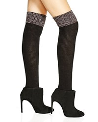 Hue Space Dyed Cuff Ribbed Over The Knee Socks