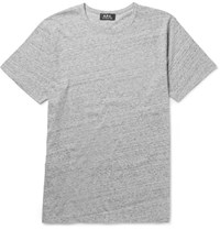 A.P.C. Melange Cotton Jersey T Shirt Gray