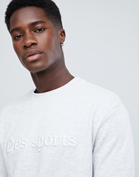 New Look Sweatshirt With Embroidery In Light Grey
