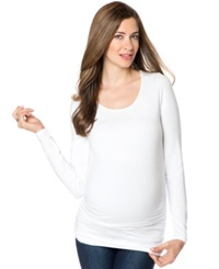 A Pea In The Pod Maternity Long Sleeve Ruched Tee