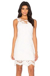Fifteen Twenty Embroidered Tulle Dress White