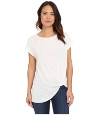 Brigitte Bailey Knot Front T Shirt White Women's T Shirt