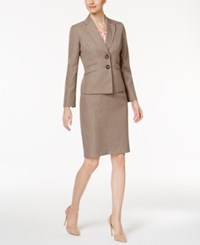 Le Suit 3 Pc. Four Pocket Skirt Mocha Blush