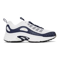 Reebok Classics White And Navy Daytona Dmx Ii Sneakers