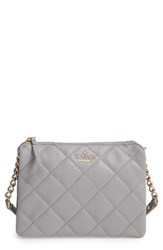 Kate Spade New York 'Emerson Place Harbor' Quilted Leather Crossbody Bag Grey City Fog
