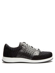 Bottega Veneta Leather And Suede Low Top Trainers Black