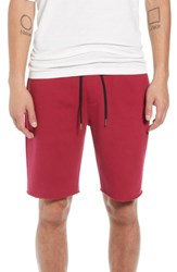 The Rail Fleece Shorts Red Rumba