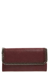 Stella Mccartney Women's 'Falabella Rainbow Pop' Faux Leather Continental Wallet Purple Jazzberry With Silver