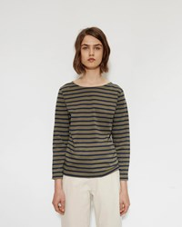 Mhl By Margaret Howell Stripe Matelot Khaki Navy