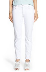 Eileen Fisher Women's Garment Dyed Stretch Ankle Skinny Jeans White