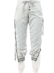 Greg Lauren Layered Cropped Trousers Grey