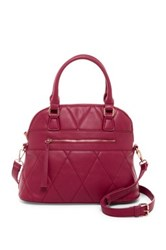 Urban Expressions Duke Vegan Leather Dome Satchel Red