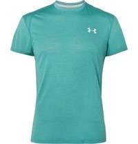 Under Armour Streaker 2.0 Mesh Panelled Microthread T Shirt Green